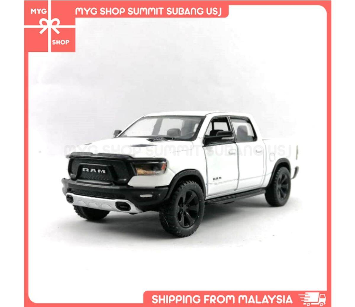 Kinsmart Metal Diecast Car Pick Up Vehicle 2019 Dodge Ram 1500 Truck Collectible Cake Topper Gifts Toys Collection Lazada