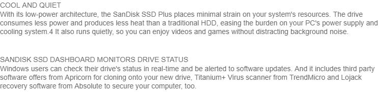 SANDISK SSD PLUS 1TB / 480GB Max R:535MB W:445MB Solid State Drive