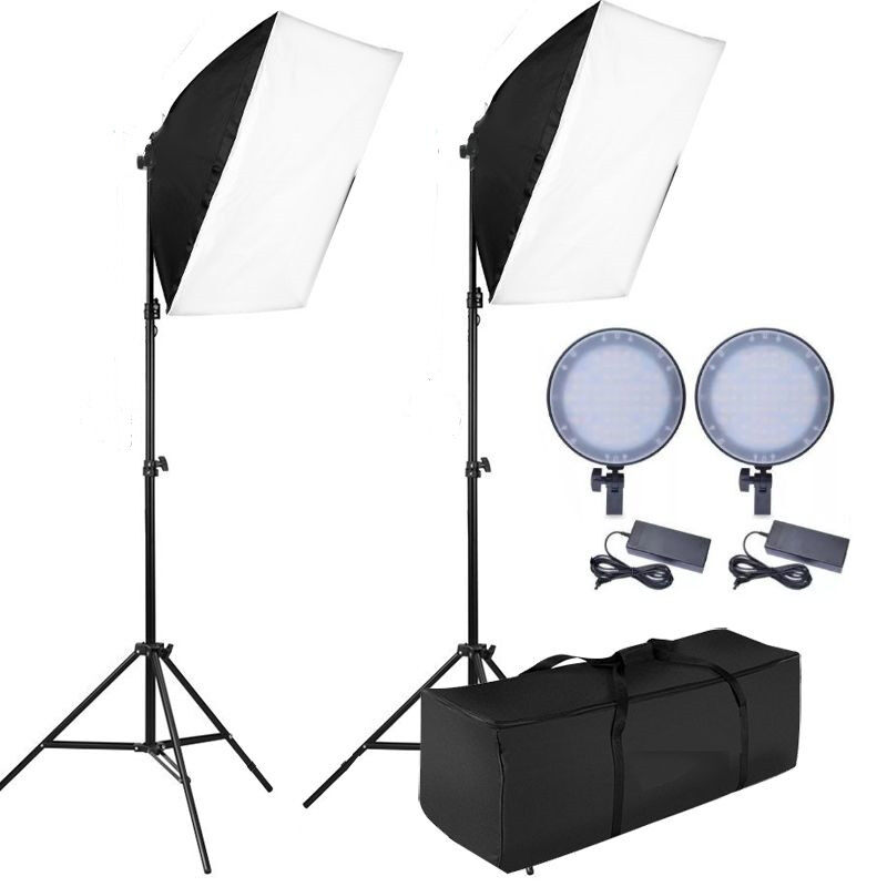 Continuous Lighting Kit LED Pro Kit Combo With Softbox and Stand (with  Dimmer) 5500K Daylight White | Lazada