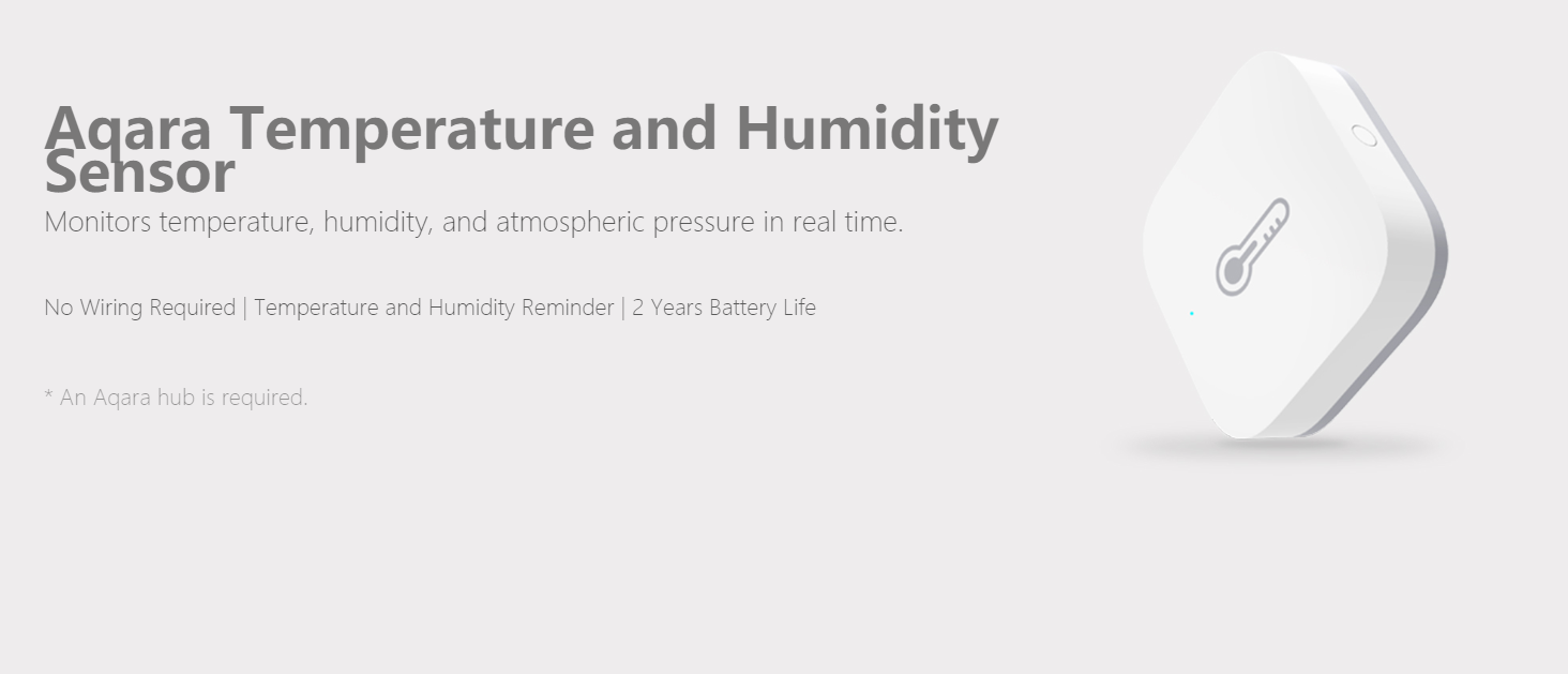 Xiaomi Aqara Temperature Humidity Sensor Smart Home Device Atmospheric  Pressure