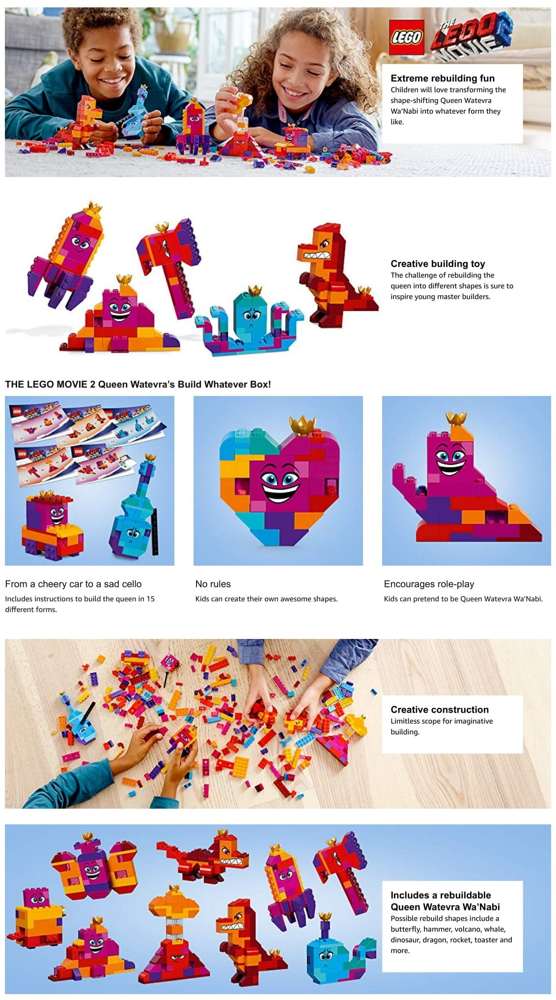 e29735db66c Specifications of THE LEGO MOVIE 2: Queen Watevra's Build Whatever Box! -  70825