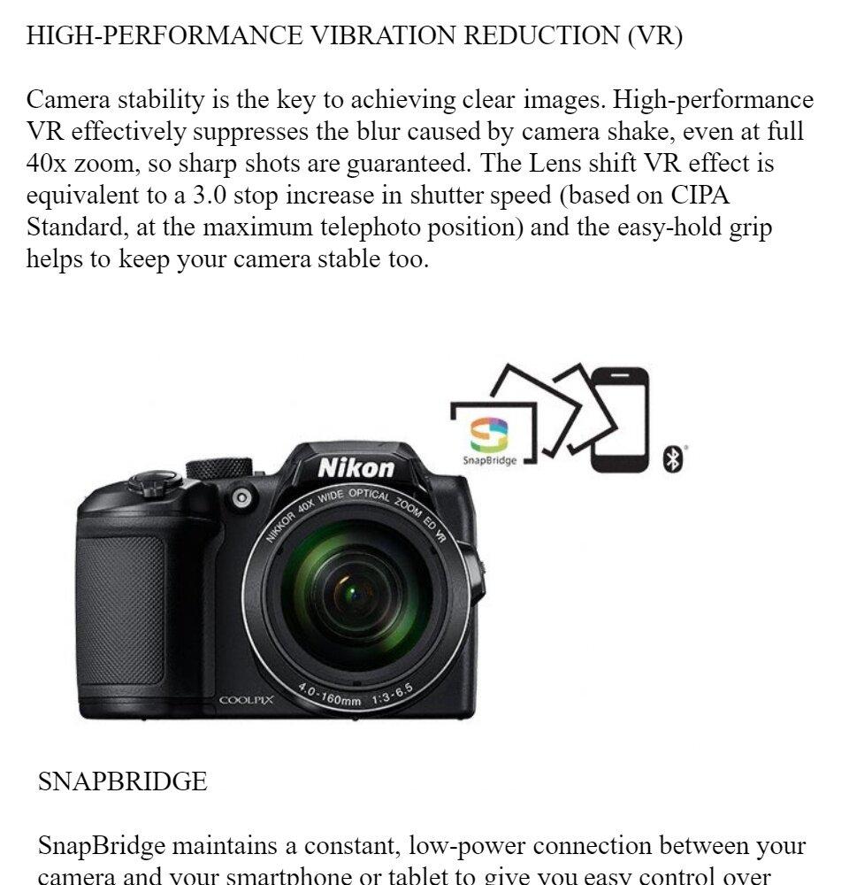 Nikon Coolpix B500 Digital Camera - Black (Original Nikon Malaysia Warranty)