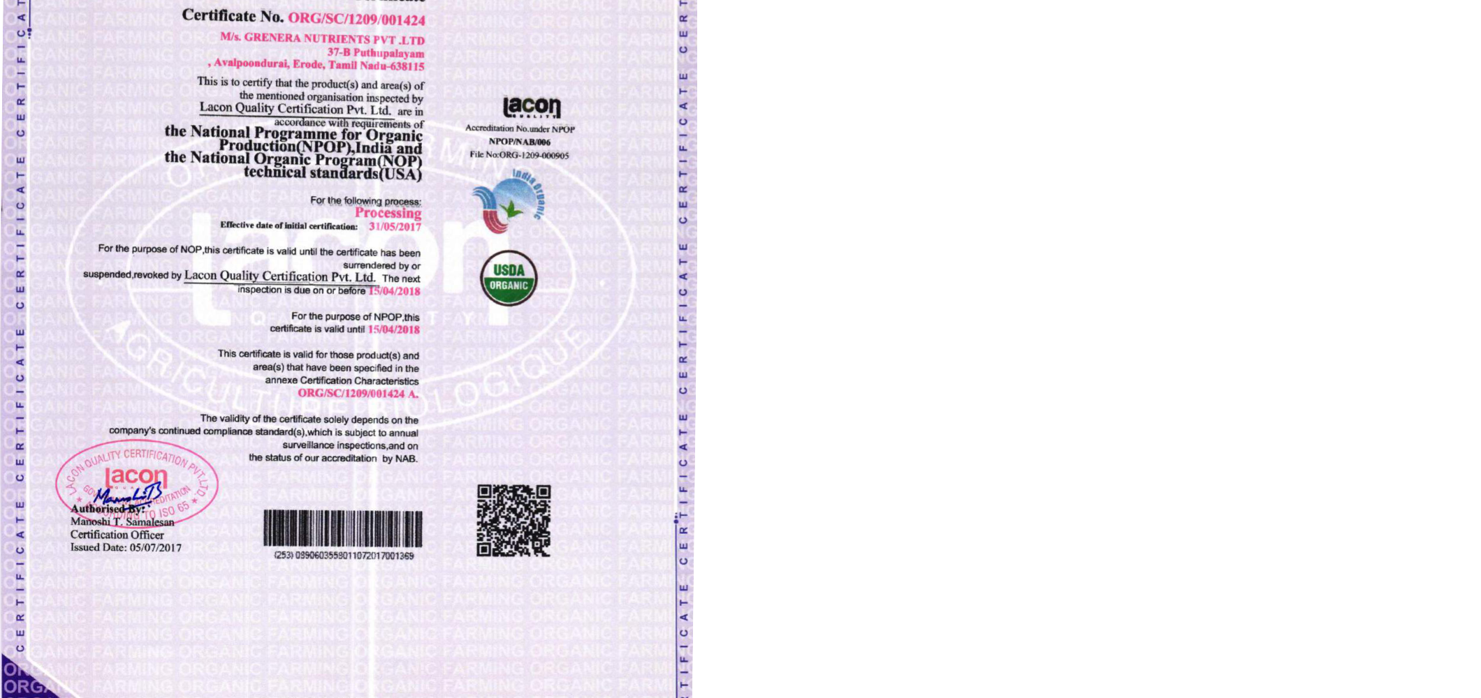 Moringa Organic Whole Food Dietary Supplement 120 Capsules Per 500mg