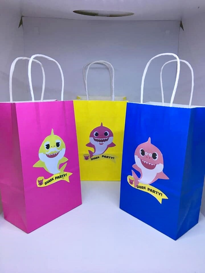 Pc Baby Shark Plastic Candy Bags Birthday Party Supplies 10