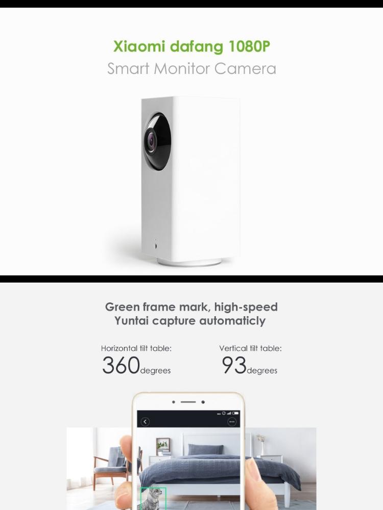 ORIGINAL] XIAOMI Dafang 1080P MiJia Smart Monitor Camera 360° Degree