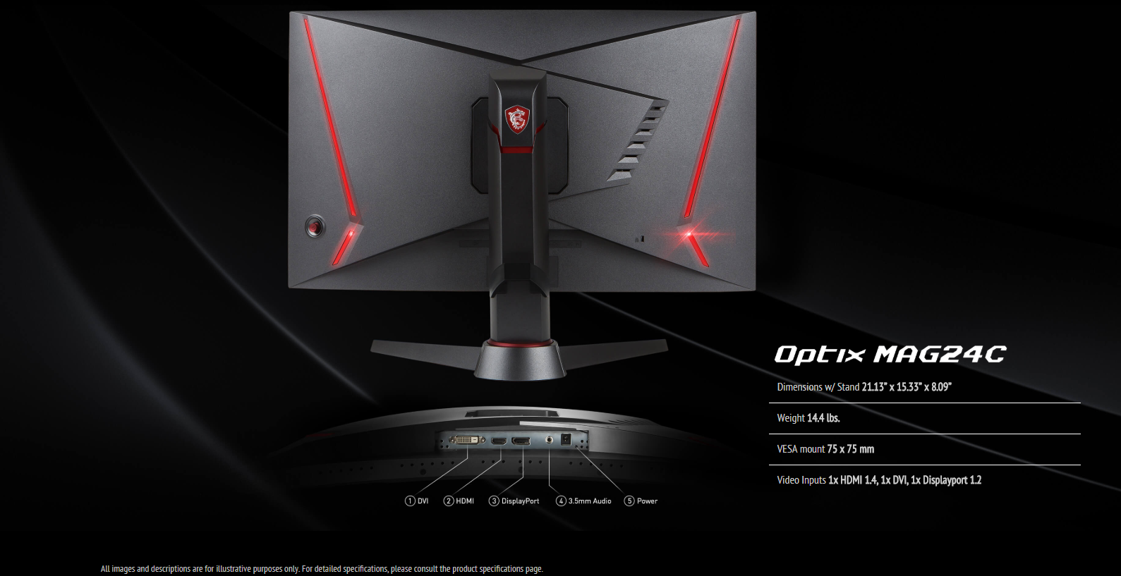 MSI Optix MAG24C Curved Gaming Monitor   Game Hypermart