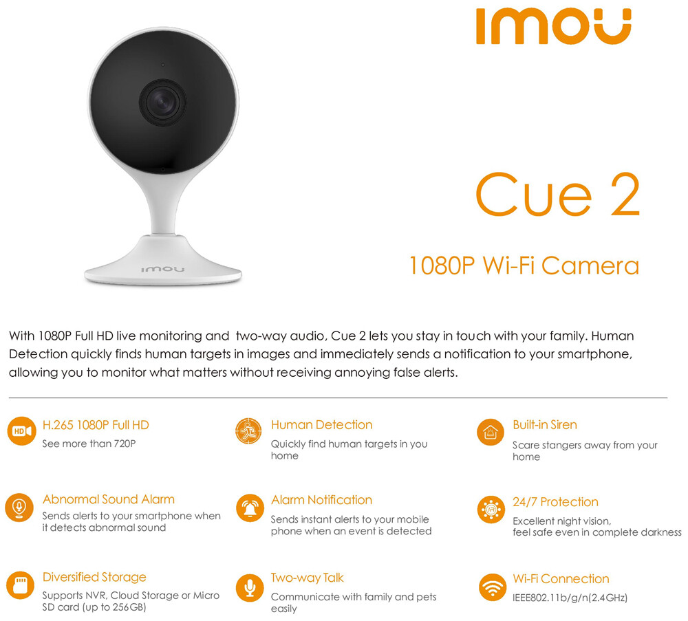 Image result for IMOU CUE 2 CCTV