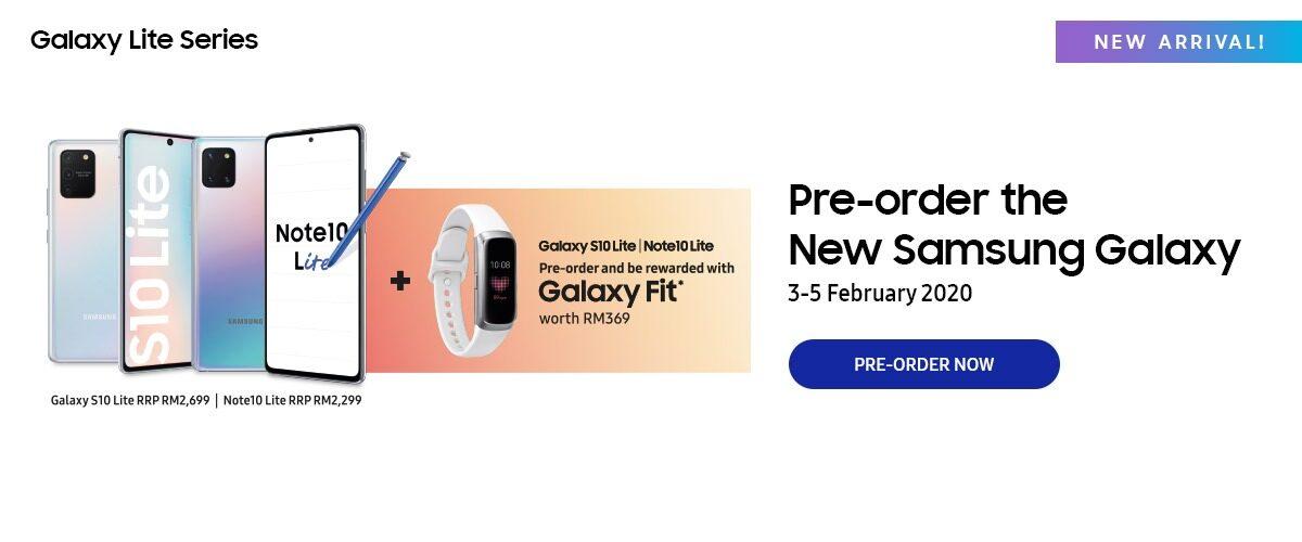 Pre-order Samsung Galaxy S10 Lite / Note 10 Lite