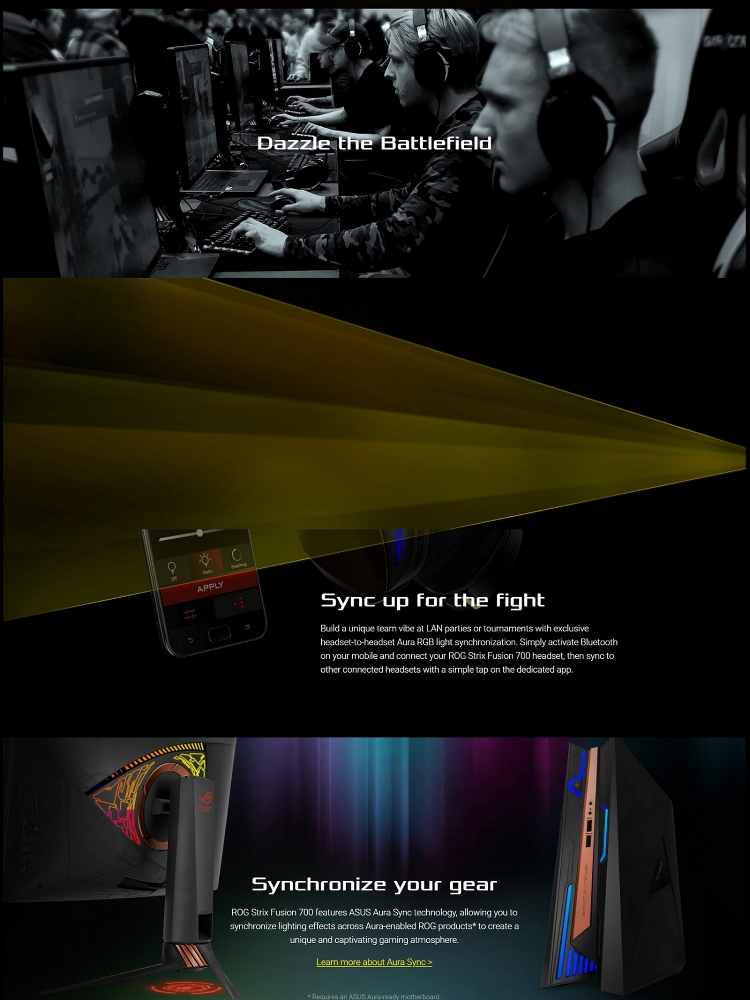 ASUS ROG Strix Fusion 700 Virtual 7 1 LED Bluetooth Gaming Headset for PC,  PS4, and Nintendo Switch with Hi-Fi Grade ESS DAC, ESS Amplifier, Digital