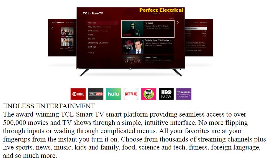 [2019 NEW MODEL] TCL 50 inch 4K UHD SMART LED TV 50P6US [Replace 50P65US]  better than SHARP / SAMSUNG / LG / HISENSE / SONY / TOSHIBA / SKYWORTH /