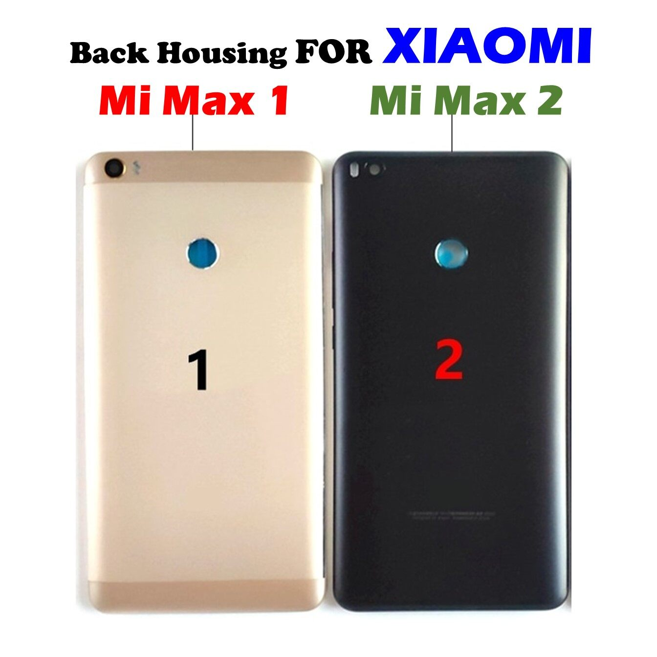 (With Logo) Battery Door Back Housing With On OFF Volume Button FOR XiaoMi  Mi Max 1 Mi Max 2