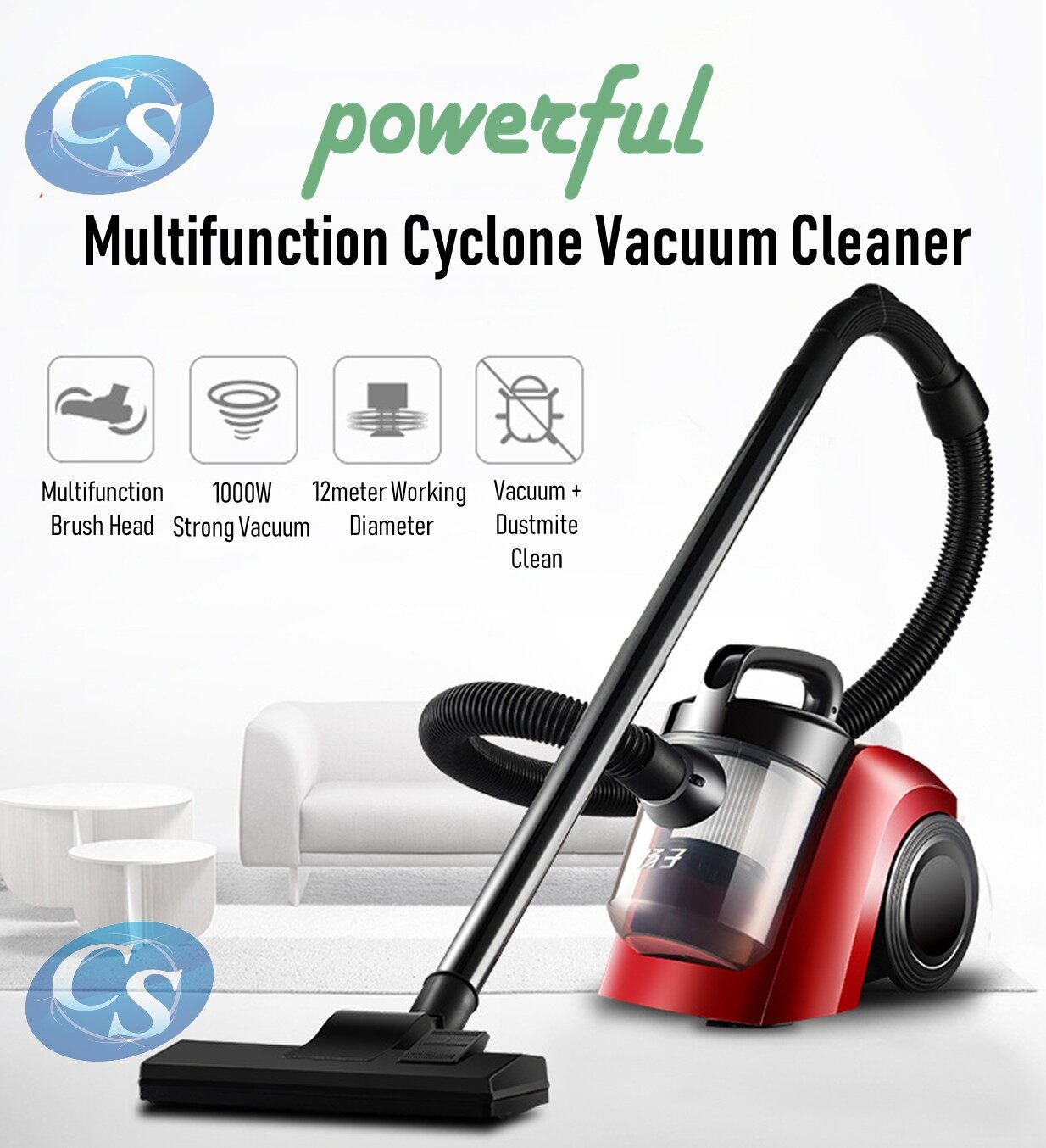 Powerful 1000W DM-001 Cyclone Vacuum Dust Acarid Dust-mite