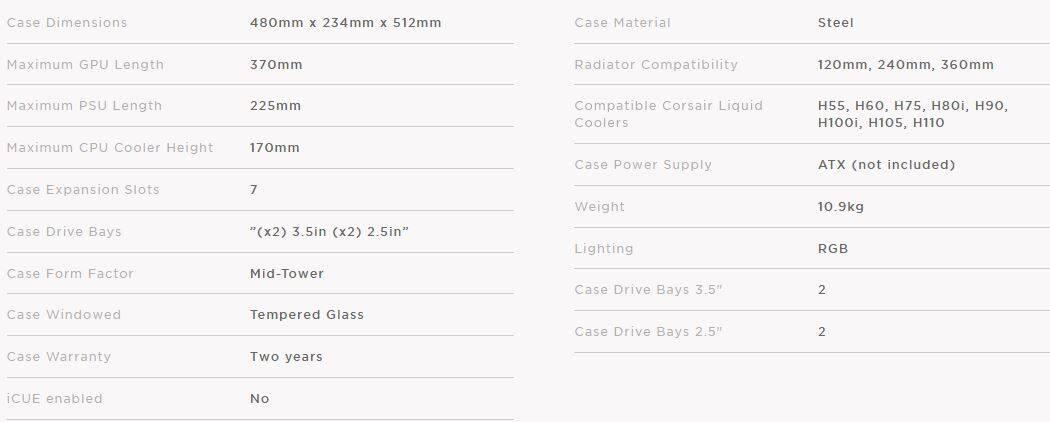 corsair 570x crystal series rgb te  end 12  18  2022 12 00 am