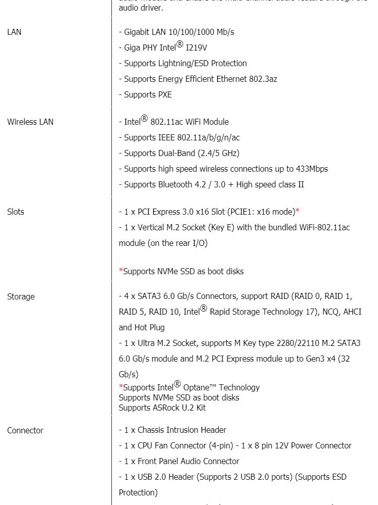 ASRock B365M-ITX/ac Intel B365 LGA1151 Mini-ITX Motherboard