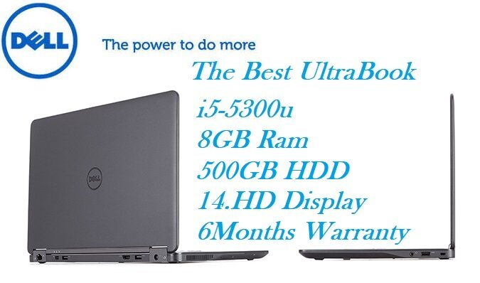 REFURBISHED Dell Latitude E7450 / i5-5th GEN / 8GB RAM DDR3 / 500GB Hard  Disk -ULTRABOOK 6 MONTHS WARRANTY