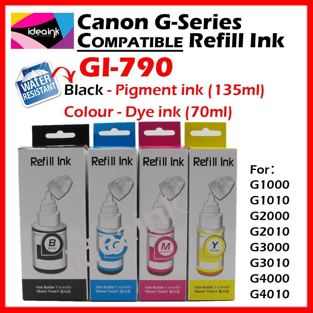 Canon Original Tinta Botol Gi 790 Black Spec Dan Daftar Harga Pigment Ultimate Plus Uv G1000 G2000 G2003 G3000 Magenta 70 Ml Full Set Compatible G Series Refill Ink Bottle Gi790