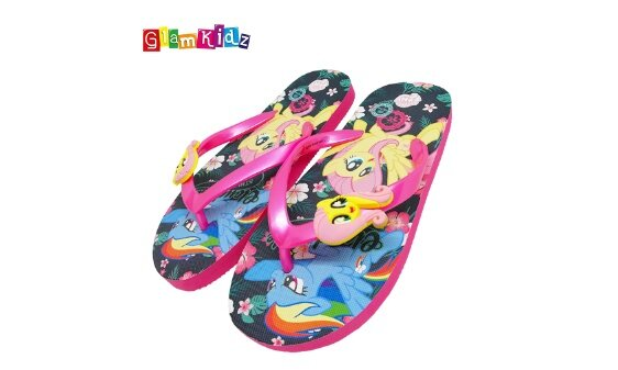 84294797fb4 GlamKidz My Little Pony Girls Slippers (Black)  2596. How To Buy