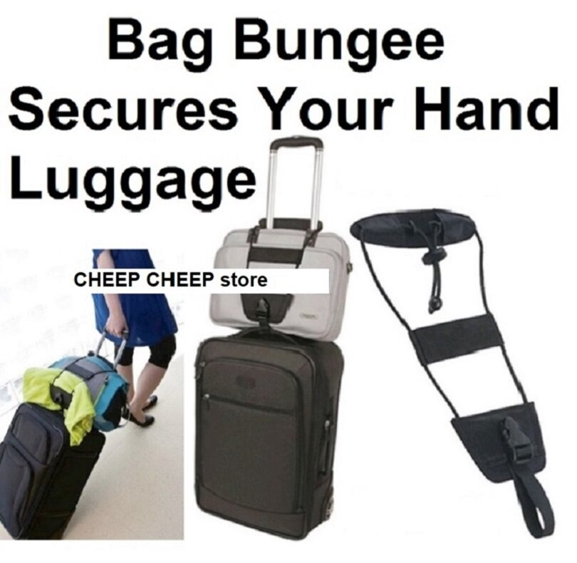 fd02615e114d Bag Bungee Adjustable Travel Luggage Strap - Add A Carry On Bag & Jacket  Strap
