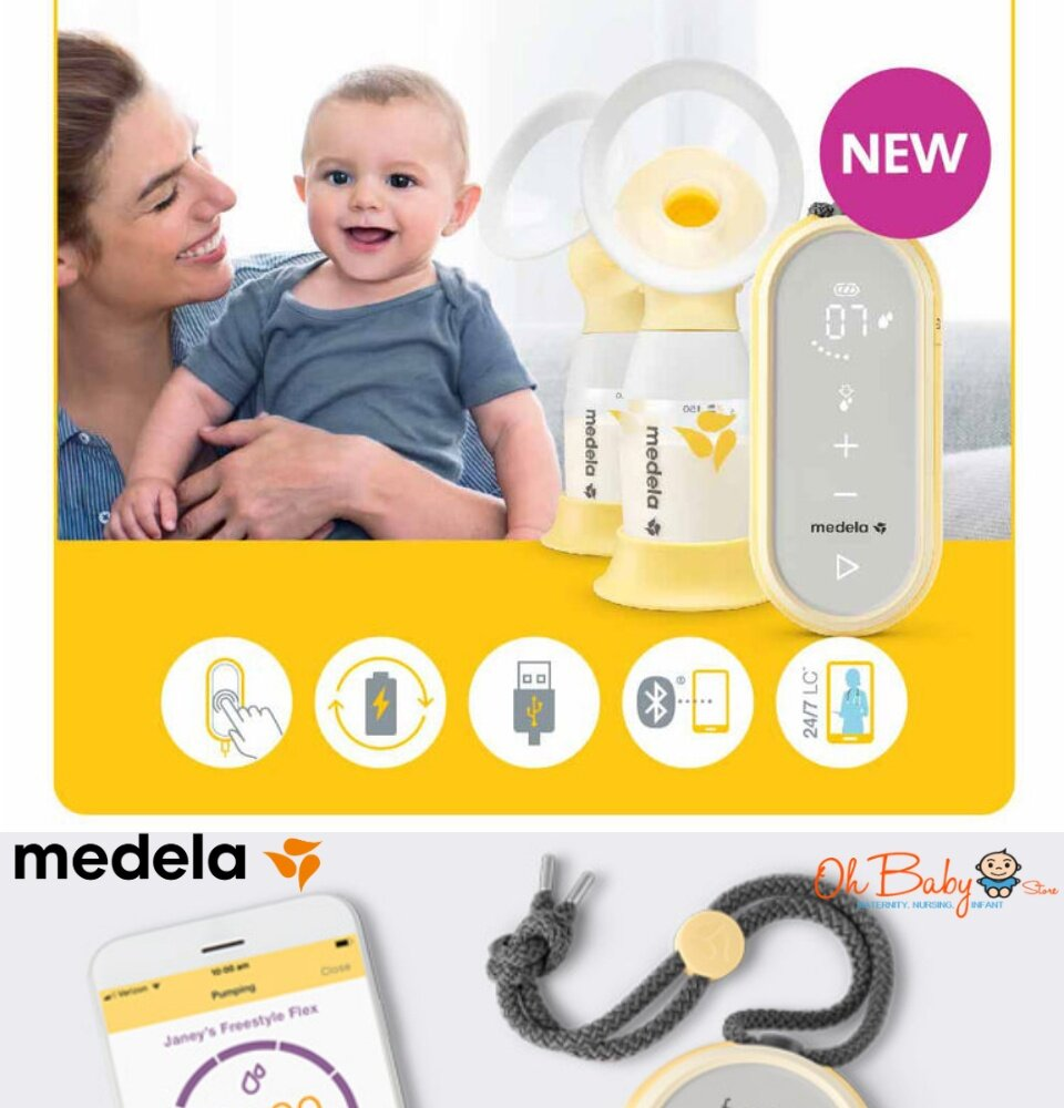 Medela Freestyle Flex Double Rechargeble Electric 2 Phase Breast Pump With Tote Bag Cooler Bag Set