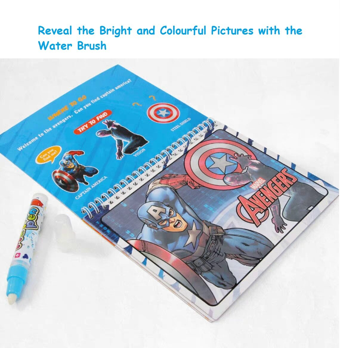 64+ Water Coloring Book Avengers HD
