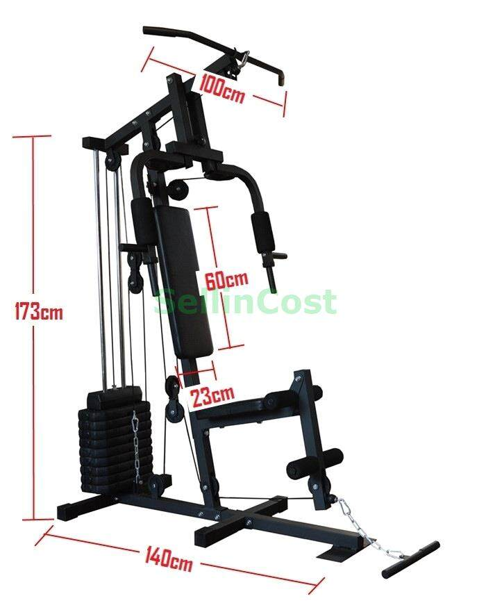 SellinCost 66KG Weight Stack Multi Function Home Gym Station Gym Equipment  Set Fitness Workout Press Machine 1YR Warranty (TLST-66) FREE Tricep Rope