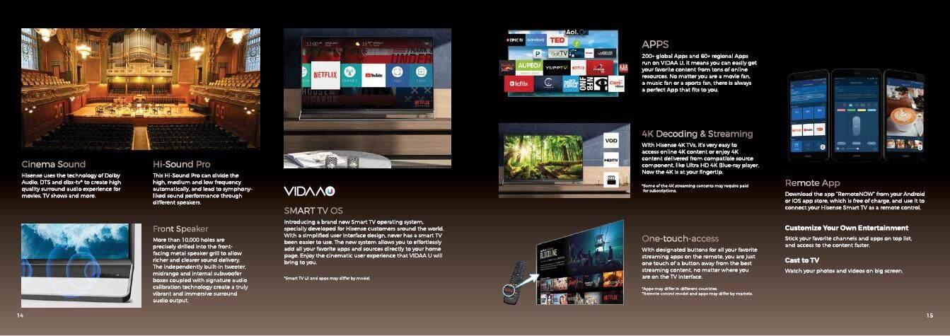 Hisense 65 Ultra LED 4K Smart TV 65U7A | PrestoMall - LED & LCD TVs