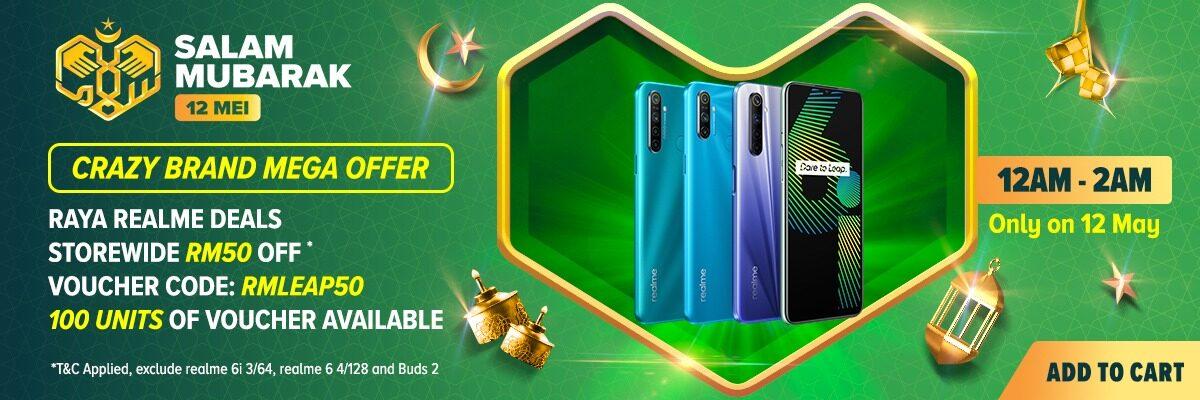 Realme Raya Sales:送出价值近 RM1000 赠品,还有限量 RM50 折扣券让你一省再省 6