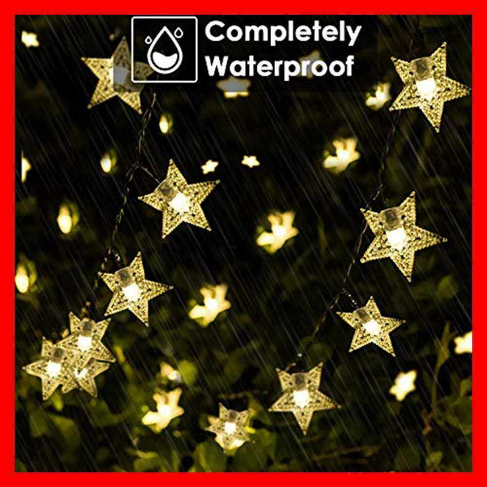 Solar Outdoor Waterproof 9m 50 Led Star String Lights For