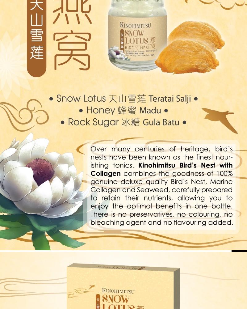 Kinohimitsu Birds Nest With Snow Lotus And Honey 6s X 2 Boxes Lazada