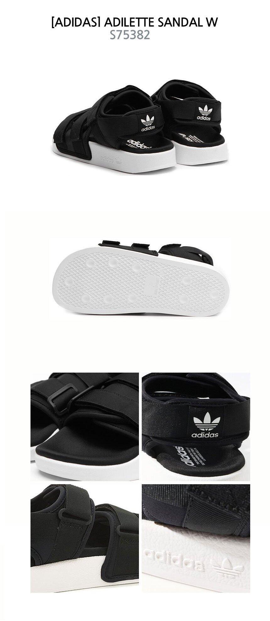 81af2ba3f Product details of Adidas Originals Adilette Sandal W S75382 Black   White