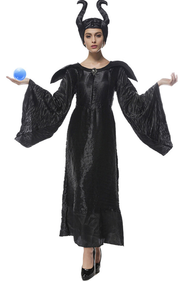 Maleficent Witch Queen Halloween Costume Adult Party Cosplay 2019