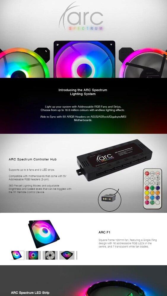 Tecware F1 4 Pack ARGB Fans [ High Performance ARGB Fans ]