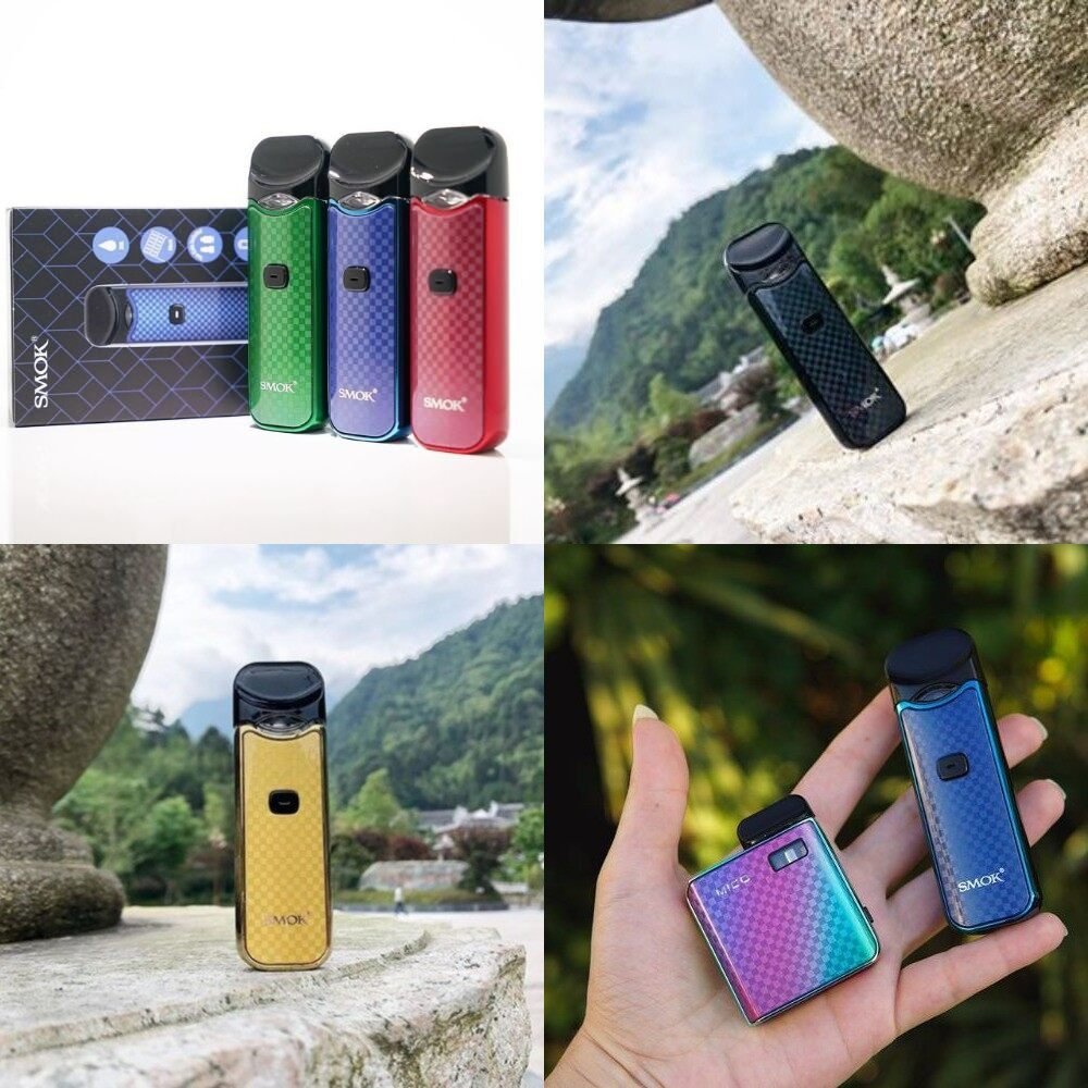 Limited Edition Smok Nord Carbon Fibre Kit Built In Battery 1100mAh with  3ML Cartridge