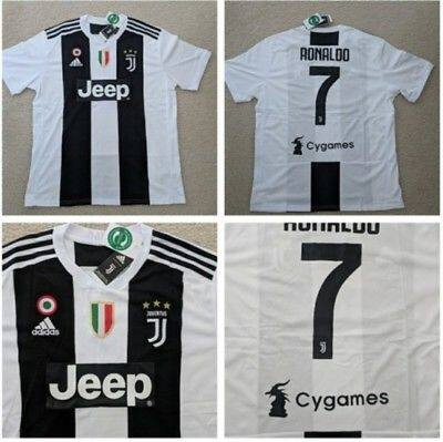 the latest 5754a c7116 Cristiano Ronaldo Juventus 18/19 Home UCL Kit with Full Bages