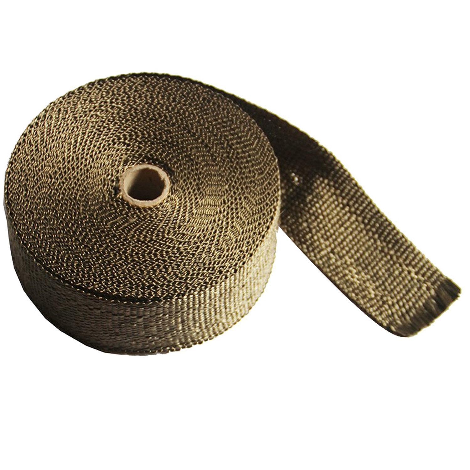 5cm x 10m Titanium Automotive Motorcycle Exhaust Heat Insulating Wrap Roll  Header Heat Shield Tape with 6 Stainless Ties