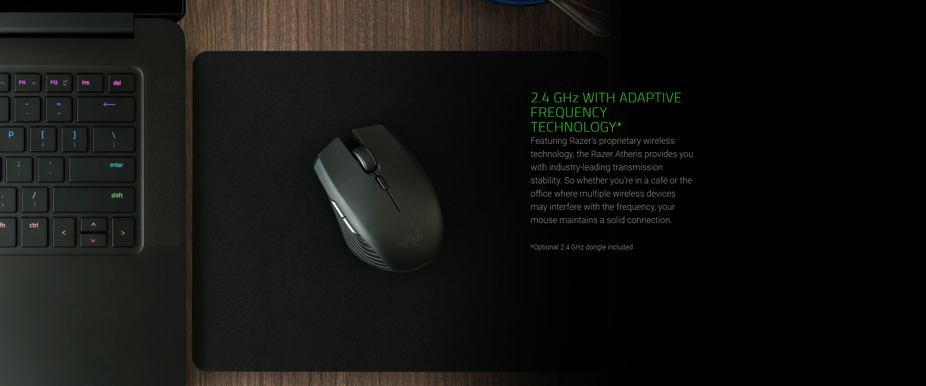 Razer Atheris Mobile Gaming Mouse - Dual 2 4 GHz and Bluetooth LE  connectivity (6 button 7200dpi Optical Sensor) RZ01-02170100-R3A1