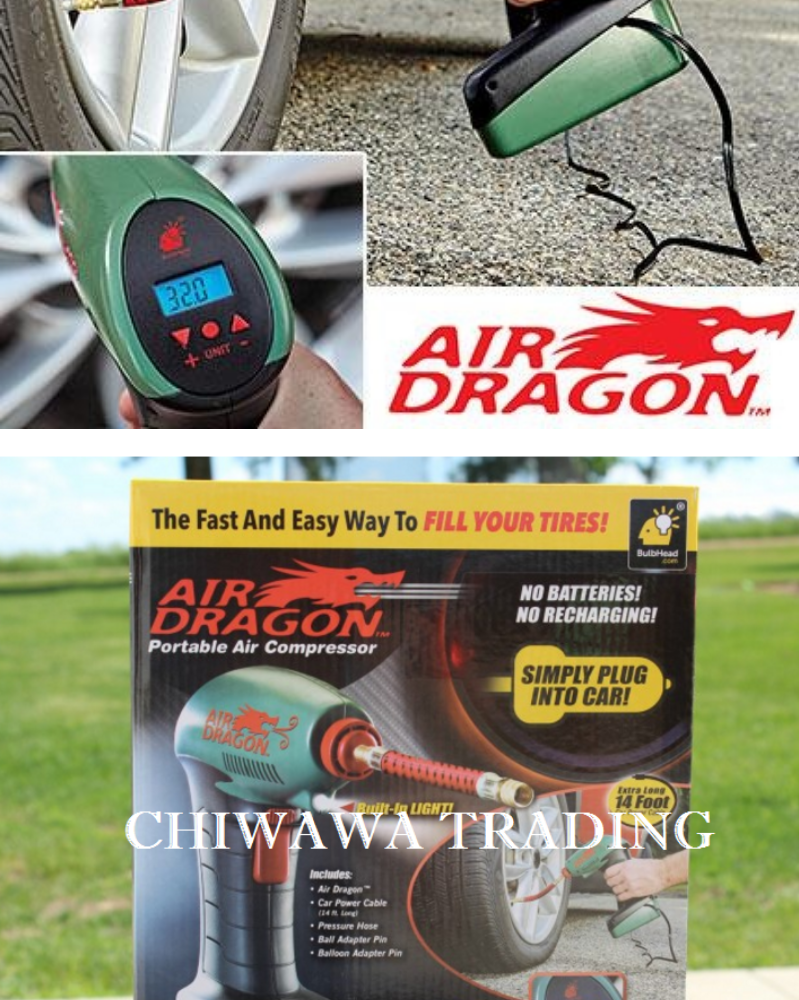 【Digital LED Screen】Air Dragon Handheld Portable Air Compressor Auto Tire Inflator Balls Mattress Toys Pump Emergency Tool For Sport Ballls, Pool Toys, ...