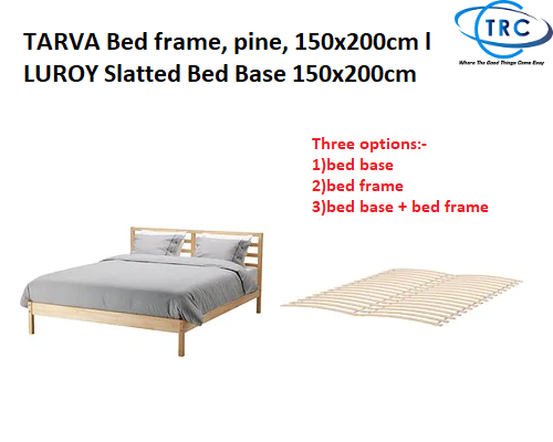 Ready Stock Ikea Tarva Bed Frame Pine 150x200cm L Luroy Slatted Bed Base 150x200cm