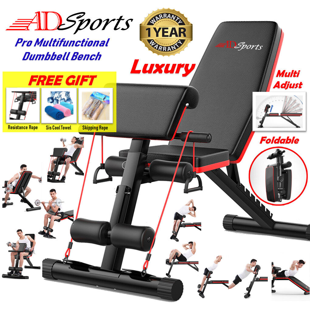 Adsports Ad600 Multi Purpose Adjustable Gym Weight Bench