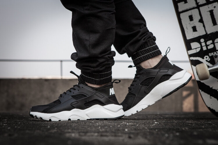get new outlet store sale fast delivery Nike Air Huarache Run Ultra 819685 Black & White Running Shoes Sport Shoes  Sneakers for Men Women